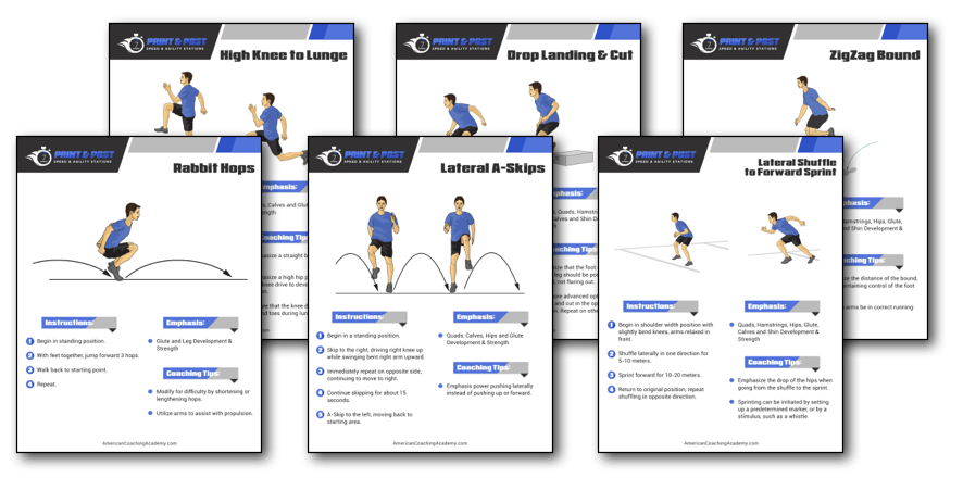 Print And Post Speed And Agility Workouts American