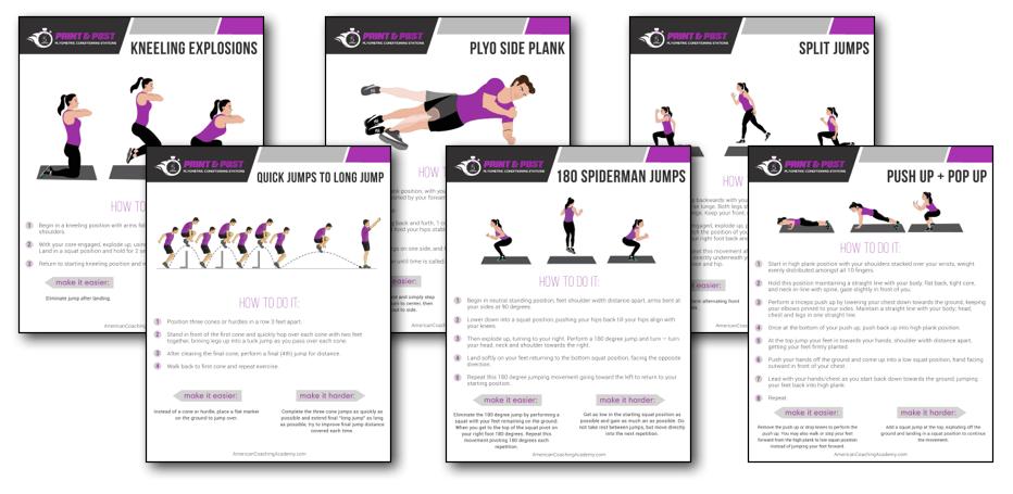 Print and Post Plyometric Workouts — American Coaching Academy