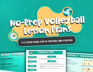 No Prep Volleyball Lesson Plans